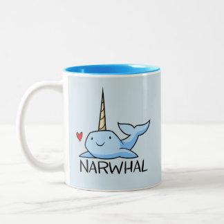 Narwhal Two-Tone Coffee Mug