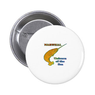 Narwhal - Unicorn of the Sea 6 Cm Round Badge