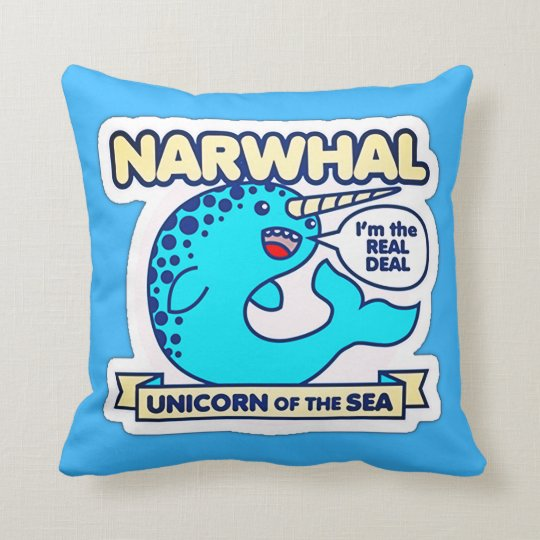 Narwhal Unicorn Of The Sea Cushion