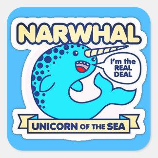 Narwhal Unicorn Of The Sea Square Sticker