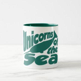 Narwhal Unicorn of the Sea Two-Tone Coffee Mug