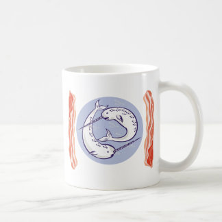narwhal whale and bacon mugs
