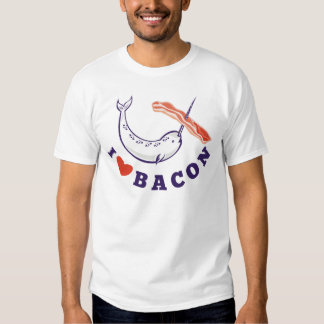 narwhal whale i love bacon shirt