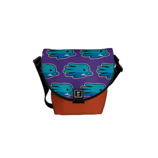 Narwhal Whale Tooth Messenger Bags