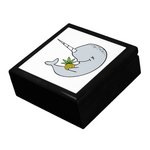 Narwhal With Pineapple Box Keepsake Boxes
