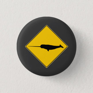 Narwhal X-ing Sign 3 Cm Round Badge