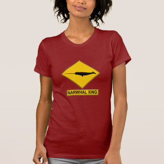 Narwhal X-ing Sign T Shirt