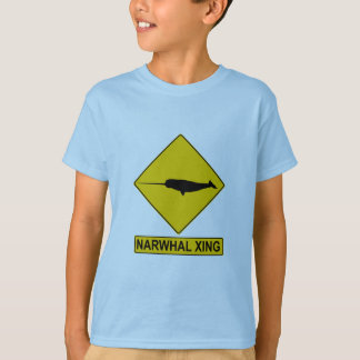 Narwhal X-ing Sign T Shirts