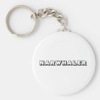 Narwhaler Logo Basic Round Button Key Ring