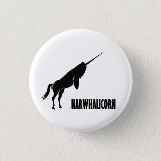 Narwhalicorn Narwhal Unicorn 3 Cm Round Badge