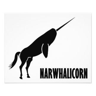 Narwhalicorn Narwhal Unicorn Custom Flyer