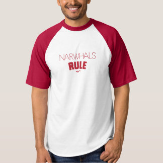 Narwhals Rule - Red type T-Shirt