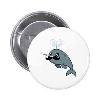 Narwhalstache 6 Cm Round Badge