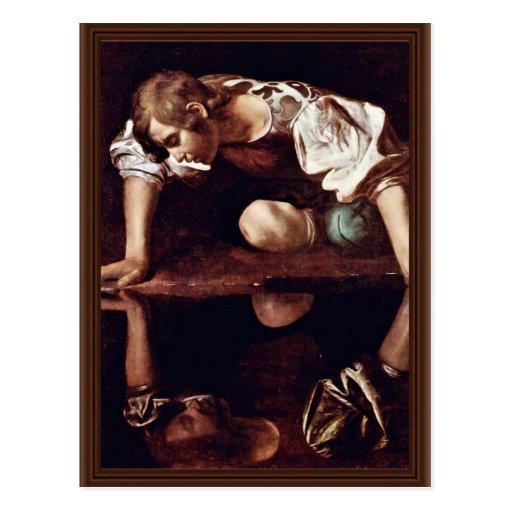 Narzis,  By Michelangelo Merisi Da Caravaggio Postcards