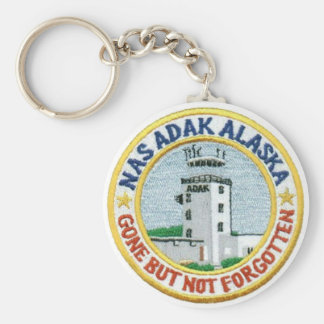 "NAS Adak, Alaska ""Gone But Not Forgotten"" Keychain"