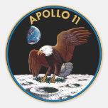 NASA Apollo 11 Logo Round Stickers