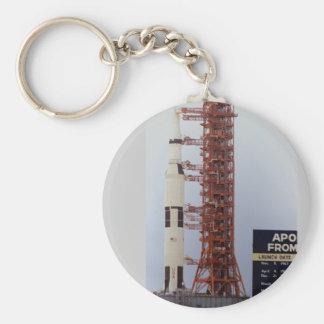 NASA Apollo 15 Saturn V roll out Basic Round Button Key Ring