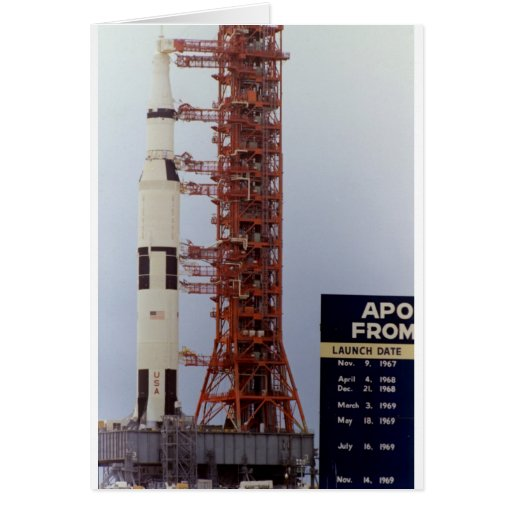 NASA Apollo 15 Saturn V roll out Cards