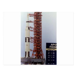 NASA Apollo 15 Saturn V roll out Postcard