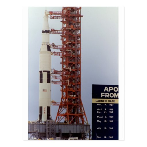 NASA Apollo 15 Saturn V roll out Post Cards
