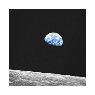 NASA Apollo 8 Earthrise Moon Lunar Orbit Photo Canvas Print