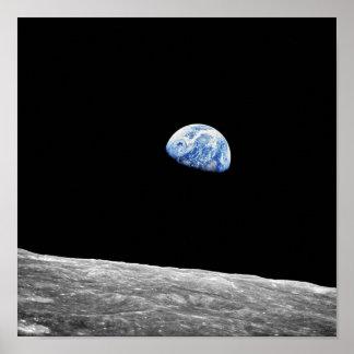 NASA Apollo 8 Earthrise Moon Lunar Orbit Photo Poster