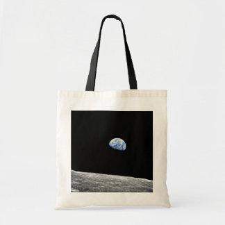 NASA Apollo 8 Earthrise Moon Lunar Orbit Photo Tote Bag