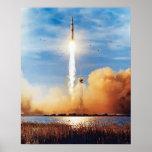 NASA Apollo 8 Rocket Launch Kennedy Space Centre Poster