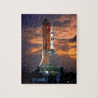 NASA Apollo Soyuz Launch Vehicle Sunrise Launchpad Jigsaw Puzzle