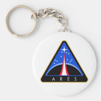 NASA Ares Rocket Logo Basic Round Button Key Ring