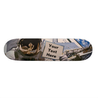 NASA Astronaut Holding Sign - Add Custom Text 20.6 Cm Skateboard Deck