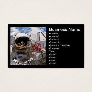 NASA Astronaut Holding Sign - Add Custom Text Business Card