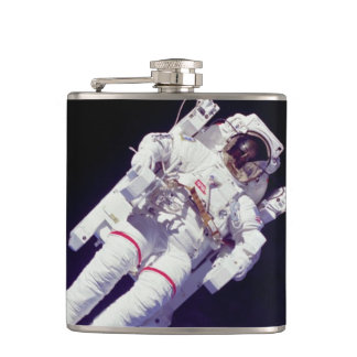 NASA Astronaut Jetpack Spacewalk Earth Orbit Photo Hip Flask