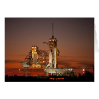 NASA Atlantis Space Shuttle launch Card