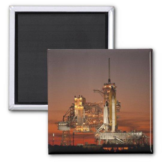 NASA Atlantis Space Shuttle launch Square Magnet