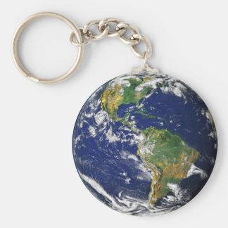 Nasa blue marble earth keychain