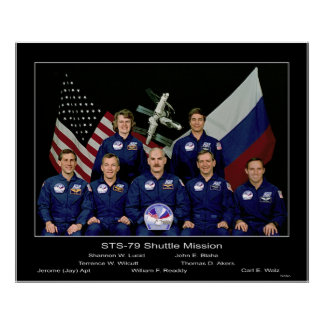NASA Crew of the STS-79 Shuttle Mission - 1996 Poster