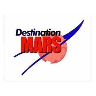 NASA Destination Mars Logo   Post Card