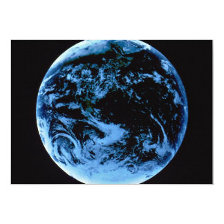 NASA Earth in space 5x7 Paper Invitation Card