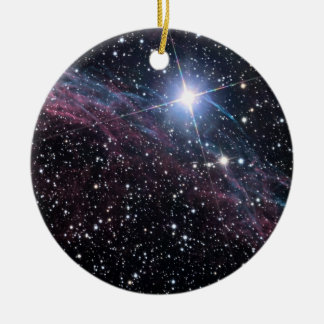 NASA ESA Veil nebula Christmas Ornament