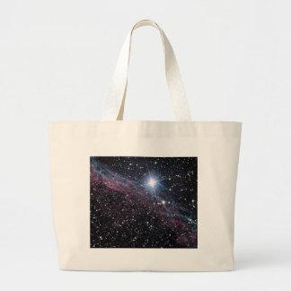 NASA ESA Veil nebula Large Tote Bag