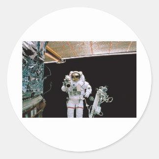 NASA EVA HUBBLE ROUND STICKER
