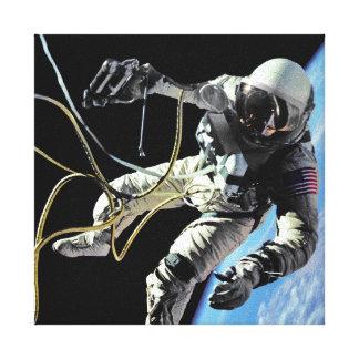 NASA First American Astronaut Spacewalk Photo Canvas Print