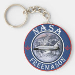 NASA  Freemason Key Chain