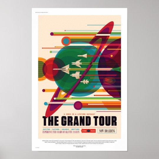 NASA Future Sci Fi Travel Poster - The