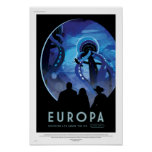 NASA Future Travel Poster - Jupiter's Moon Europa