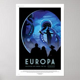 NASA Future Travel Poster - Jupiter's Moon Europa