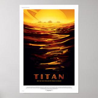 NASA Future Travel Poster - Titan