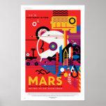 NASA Future Travel Poster - Visit Planet Mars