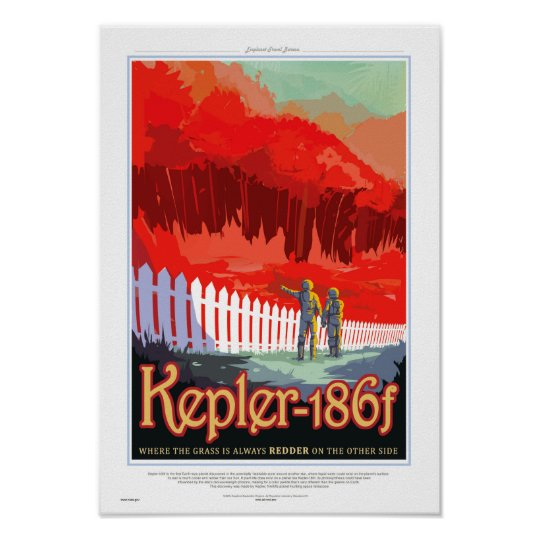 NASA Future Travel Sci Fi Poster - Kepler